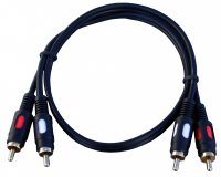 KAB-0318- 0.6   Kabel 2RCA/2RCA; HQ;  0,6m Hermann