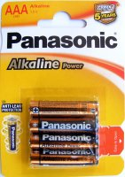 BAT-R3-PAN-0830   Bateria LR3 Panasonic Alkaline Power; blister 4 szt