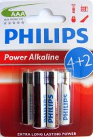 BAT-R3-PHI-BL6-ALK   Bateria LR3 Philips Power Alkaline; blister 4+2szt